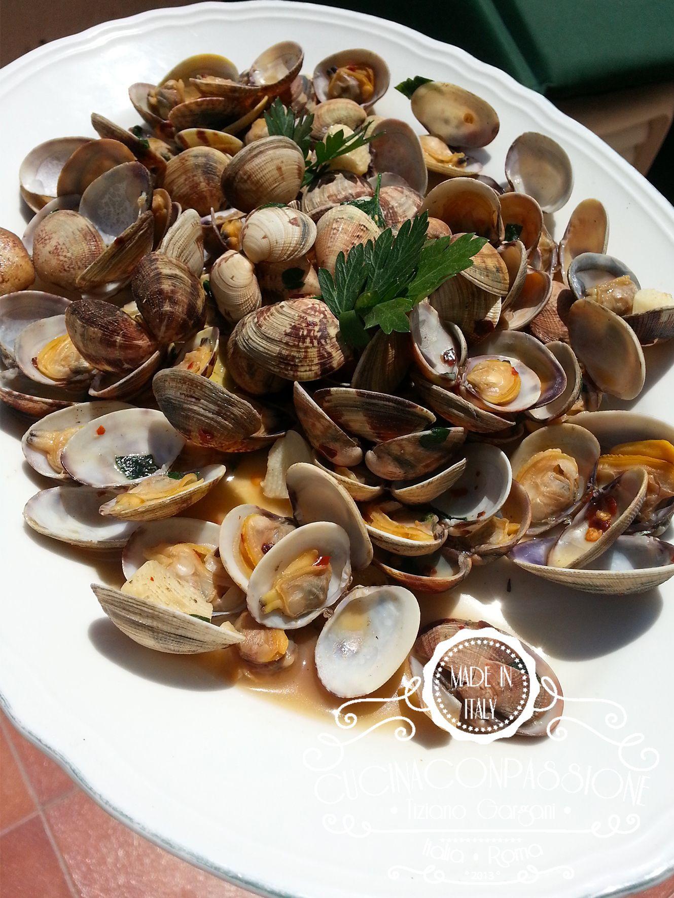 sautè di vongole - soute di vongole - Sautè di vongole